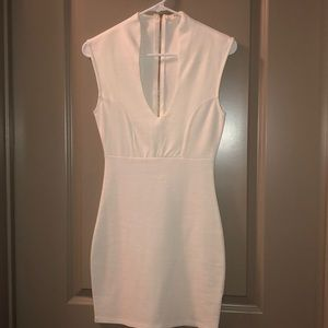 All White Fitted Dress- Size S